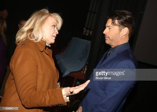 """Candice Bergen and Harry Connick Jr chat backstage after the opening night performance of """"Harry Connick Jr - A Celebration Of Cole Porter"""" on..."""