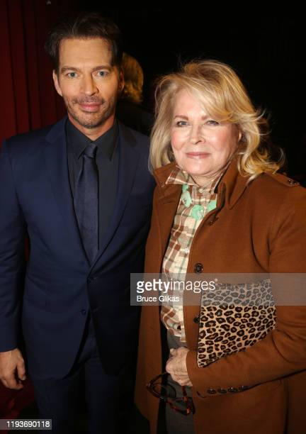 """Candice Bergen and Harry Connick Jr pose backstage after the opening night performance of """"Harry Connick Jr - A Celebration Of Cole Porter"""" on..."""