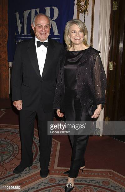 Candice Bergen and hsuband Marshall Rose during The Museum of Television and Radio Gala Honoring Tom Brokaw at The Waldorf Astoria in New York City...