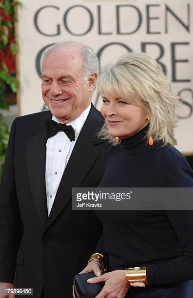 Candice Bergen and husband Marshall Rose during The 63rd Annual Golden Globe Awards Red Carpet at Beverly Hilton Hotel in Beverly Hills California...