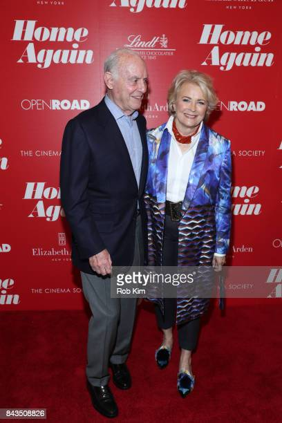 Candice Bergen and Marshall Rose attend a screening of Open Road Films' Home Again hosted by The Cinema Society at The Paley Center for Media on...