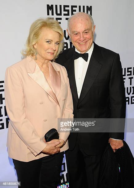Candice Bergen and Marshall Rose attend Museum of the Moving Image honors Julianne Moore at 583 Park Avenue on January 20 2015 in New York City