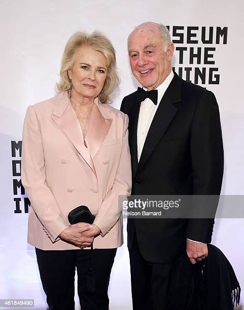 Candice Bergen and Marshall Rose attend the Museum of The Moving Image honors Julianne Moore at 583 Park Avenue on January 20, 2015 in New York City.
