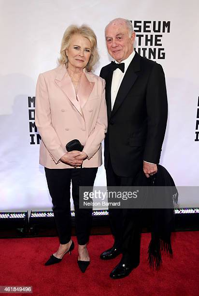 Candice Bergen and Marshall Rose attend the Museum of The Moving Image honors Julianne Moore at 583 Park Avenue on January 20 2015 in New York City