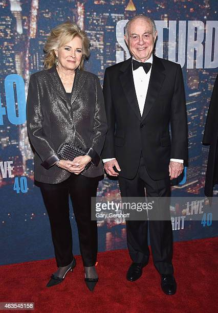 Candice Bergen and Marshall Rose attend the SNL 40th Anniversary Celebration at Rockefeller Plaza on February 15 2015 in New York City