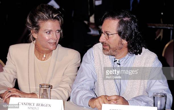 Candice Bergen and Steven Spielberg during 'Starbright A Virtual Playground' Benefit at Biltmore Hotel in Los Angeles California United States