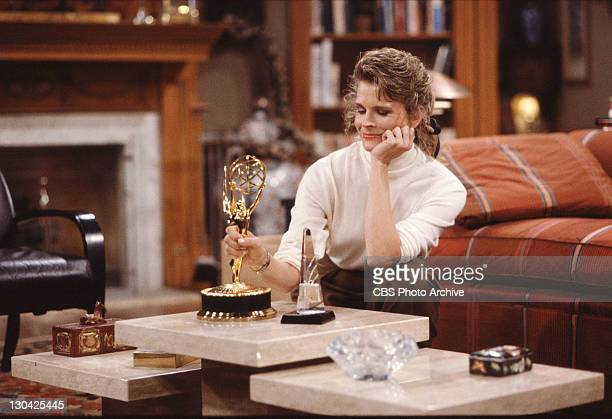 BROWN Candice Bergen as Murphy Brown with an Emmy award January 1 1989