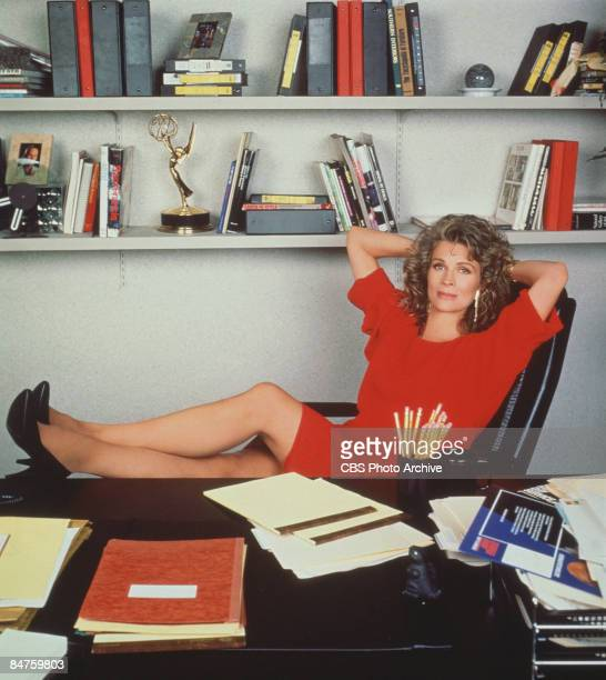 Candice Bergen as television journalist Murphy Brown from the CBS sitcom California 1990