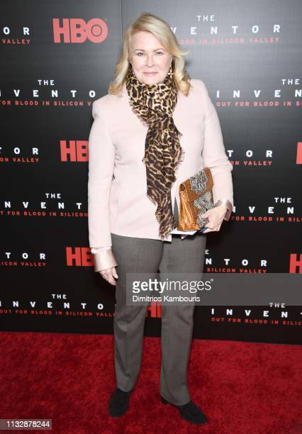 Candice Bergen attends HBO's The Inventor New York Premiere at Time Warner Center on February 28 2019 in New York City