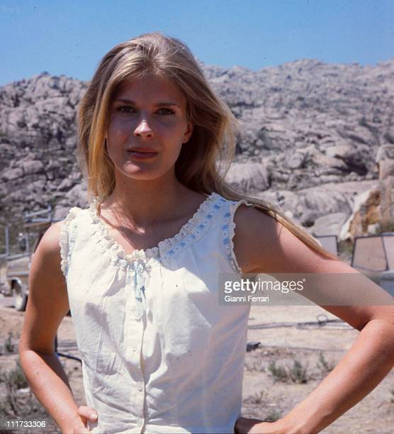 Candice Bergen during the filming of the movie 'The Hunting Party' director Don Medford Almeria Spain