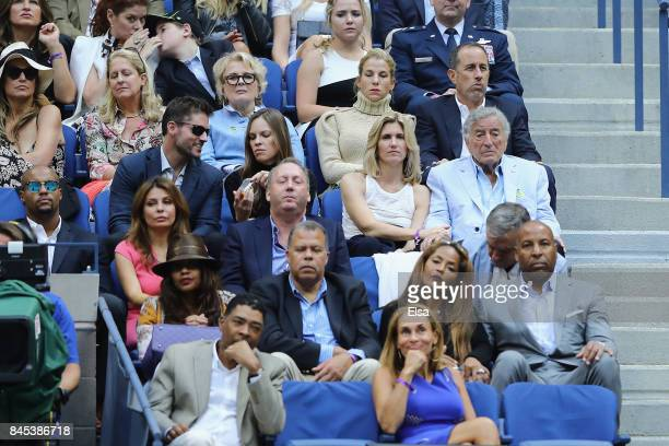 Candice Bergen Hilary Swank Jerry Seinfeld Jessica Seinfeld and Tony Bennett watch the Men's Singles finals match between Kevin Anderson of South...