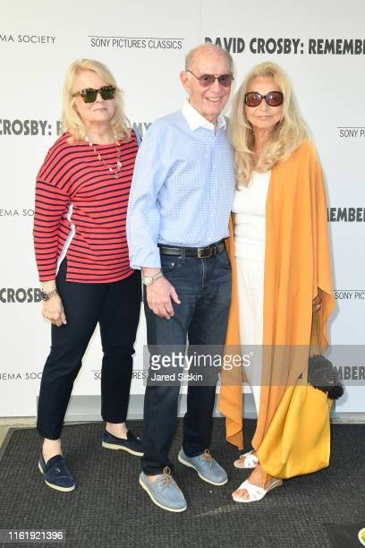 Candice Bergen Marshall Rose and Eleanora Kennedy attend Sony Pictures Classics The Cinema Society Host A Hamptons Screening Of David Crosby Remember...