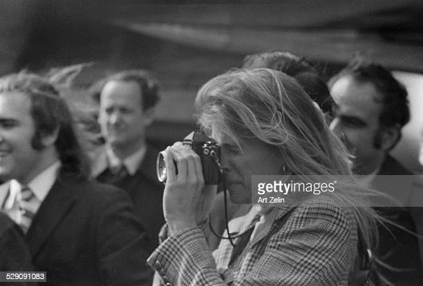 Candice Bergen photographing photographers circa 1960 New York