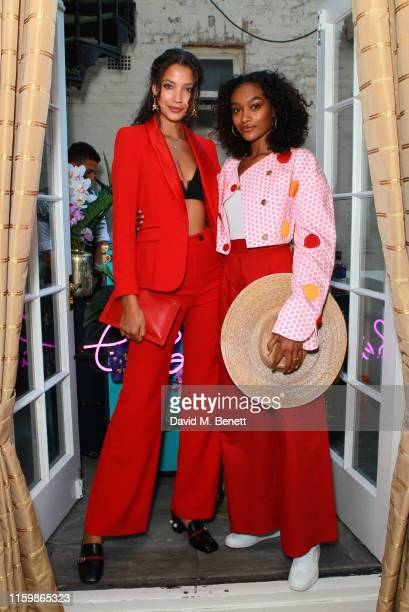 Candice Blackburn and Cheyenne MayaCarty attend the Missoma Summer Party at the Residence of the Embassy of Colombia on July 03 2019 in London England