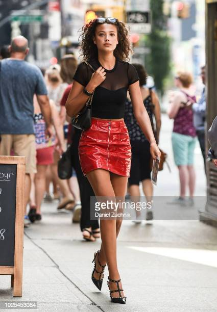 Candice Blackburn attends the casting for the 2018 Victoria's Secret Fashion Show in Midtown on August 30 2018 in New York City
