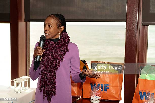 Candice Bowen speaks at the Women In Film Malibu breakfast celebrating Black History Month on February 8 2013 in Malibu California