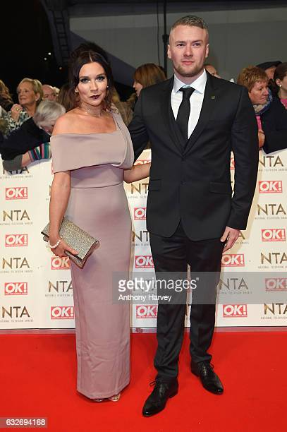 Candice Brown and Liam Macaulay attend the National Television Awards on January 25 2017 in London United Kingdom
