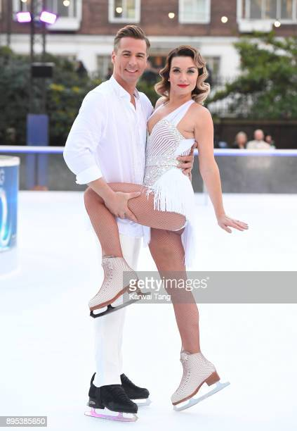 Candice Brown and Matt Evers attend the Dancing On Ice 2018 photocall held at Natural History Museum Ice Rink on December 19 2017 in London England