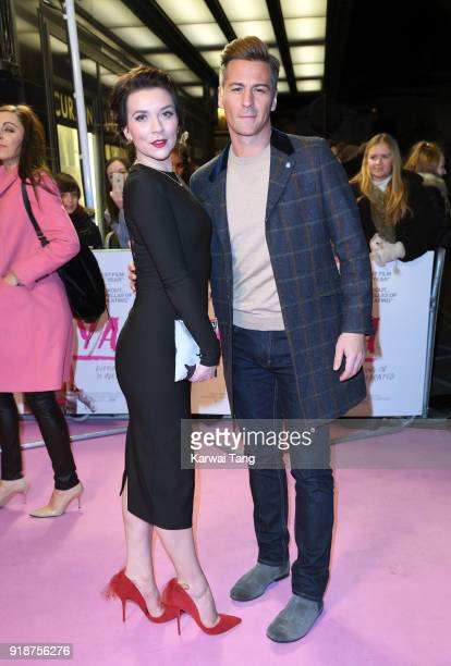 Candice Brown and Matt Evers attend the 'I Tonya' UK premiere held at The Curzon Mayfair on February 15 2018 in London England