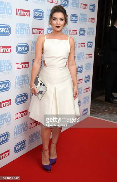 Candice Brown attends the Animal Hero Awards 2017 at The Grosvenor House Hotel on September 7 2017 in London England