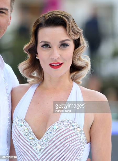 Candice Brown attends the Dancing On Ice 2018 photocall held at Natural History Museum Ice Rink on December 19 2017 in London England
