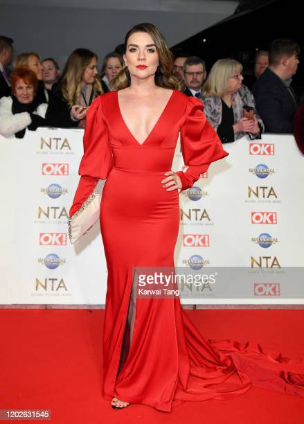 Candice Brown attends the National Television Awards 2020 at The O2 Arena on January 28, 2020 in London, England.