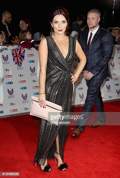 Candice Brown attends the Pride Of Britain awards at the Grosvenor House Hotel on October 31 2016 in London England