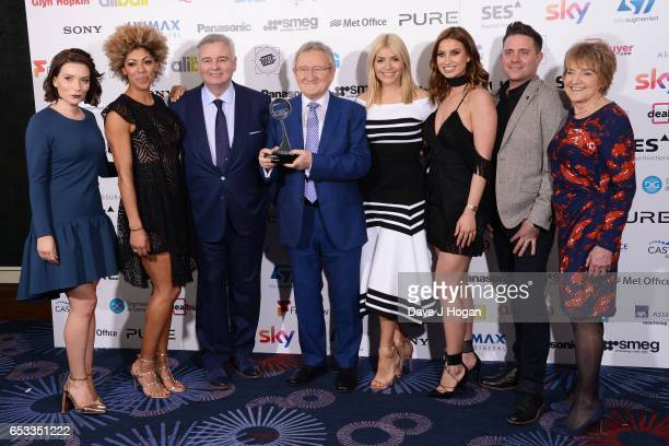 Candice Brown Dr Zoe Williams Eamonn Holmes Dr Chris Steele Holly Willoughby Ferne McCann and Deirde Sanders with the award for Daytime Programme...