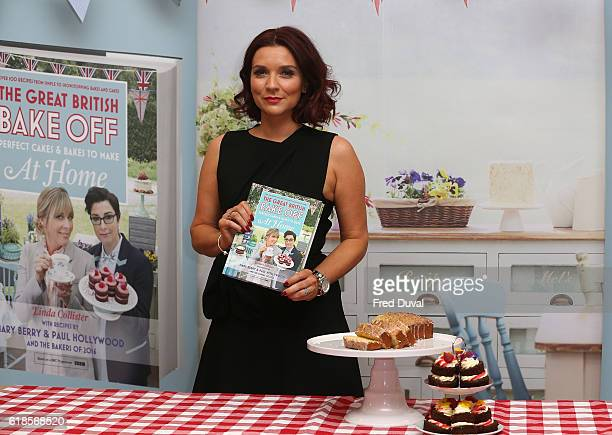 Candice Brown sign copies of 'The Great British Bake Off Perfect Cakes Bakes to Make at Home' at Waterstones Piccadilly on October 27 2016 in London...