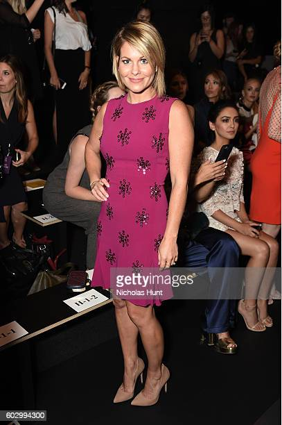 Candice Cameron Bure attends the Jenny Packham fashion show during New York Fashion Week: The Shows at The Dock, Skylight at Moynihan Station on...