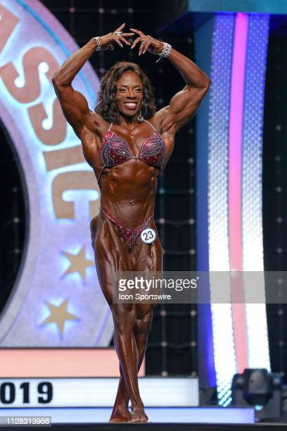 Candice Carr competes in Women's Physique as part of the Arnold Sports Festival on March 1 at the Greater Columbus Convention Center in Columbus OH