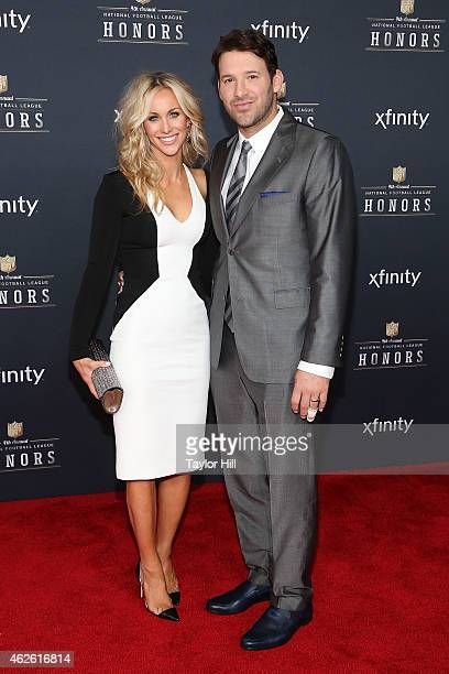 Candice Crawford and Dallas Cowboys quarterback Tony Romo attend the 2015 NFL Honors at Phoenix Convention Center on January 31 2015 in Phoenix...