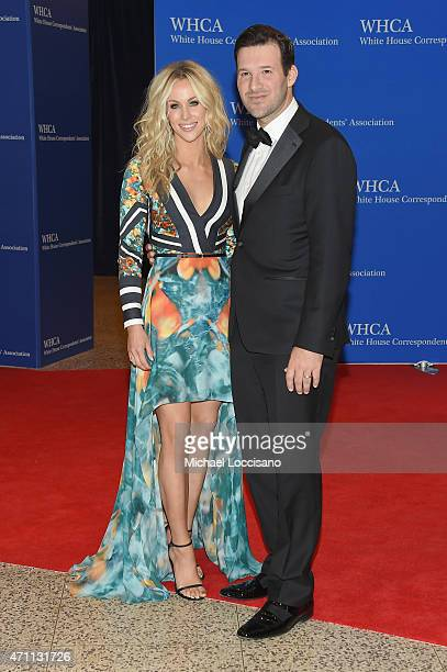 Candice Crawford and NFL player Tony Romo attend the 101st Annual White House Correspondents' Association Dinner at the Washington Hilton on April 25...