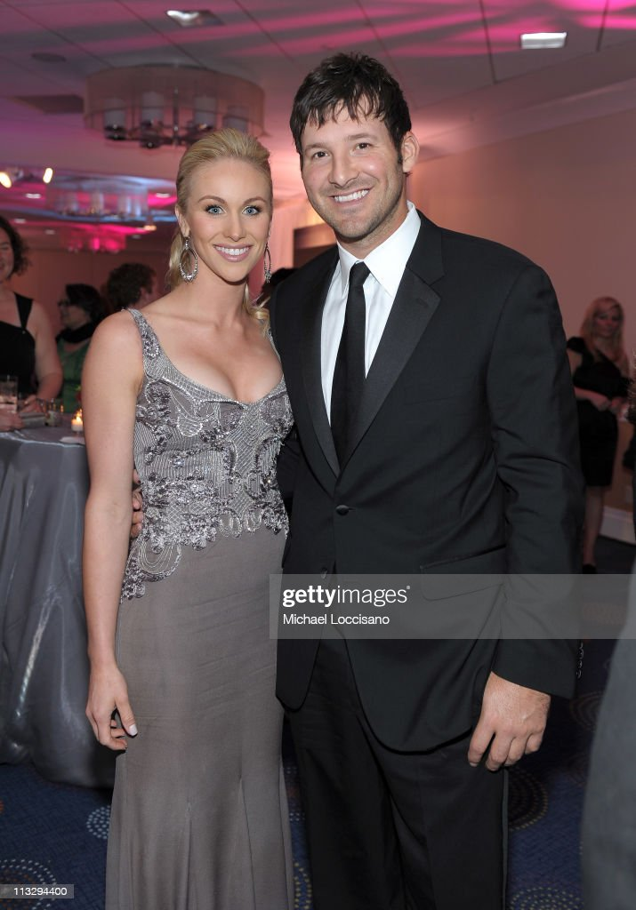 Candice Crawford and NFL player Tony Romo of the Dallas Cowboys attend the TIME/CNN/People/Fortune White House Correspondents' dinner cocktail party at the Washington Hilton on April 30, 2011 in Washington, DC.