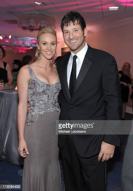 Candice Crawford and NFL player Tony Romo of the Dallas Cowboys attend the TIME/CNN/People/Fortune White House Correspondents' dinner cocktail party...