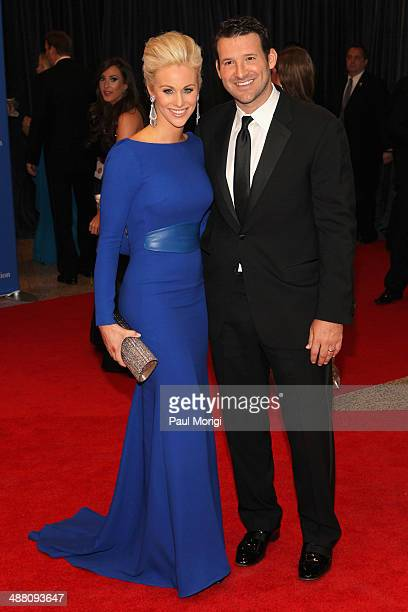 Candice Crawford and Tony Romo attend the 100th Annual White House Correspondents' Association Dinner at the Washington Hilton on May 3 2014 in...