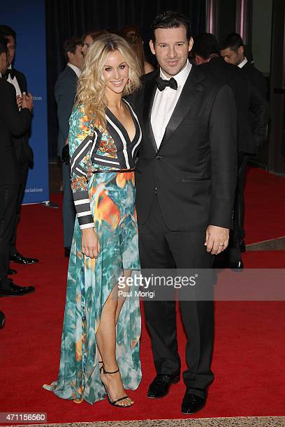 Candice Crawford and Tony Romo attend the 101st Annual White House Correspondents' Association Dinner at the Washington Hilton on April 25 2015 in...