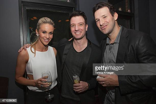 Candice Crawford JC Chasez and Tony Romo attend The Evening Before a preWhite House Correspondents' Dinner party hosted by Eric Podwall and Spotify...