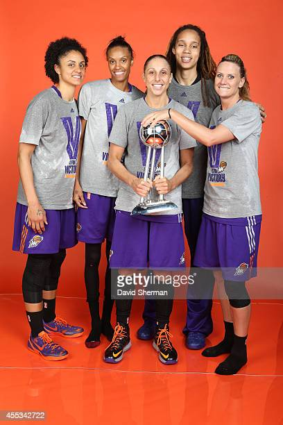Candice Dupree DeWanna Bonner Diana Taurasi Brittney Griner and Penny Taylor of the Phoenix Mercury poses for a portrait following Game Three of the...