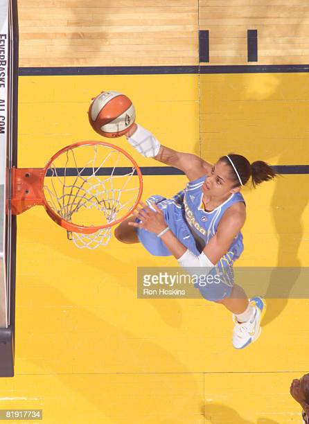Candice Dupree of the Chicago Sky lays the ball up against the Indiana Fever at Conseco Fieldhouse on July 12 2008 in Indianapolis Indiana NOTE TO...