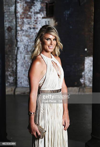 Candice Falzon fiance of David Warner of Australia poses of the 2015 Allan Border Medal at Carriageworks on January 27 2015 in Sydney Australia