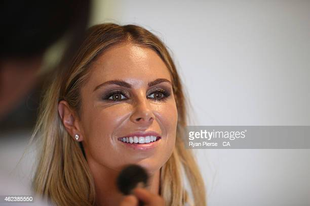 Candice Falzon getting ready for the AB Medal Awards on January 27 2015 in Sydney Australia