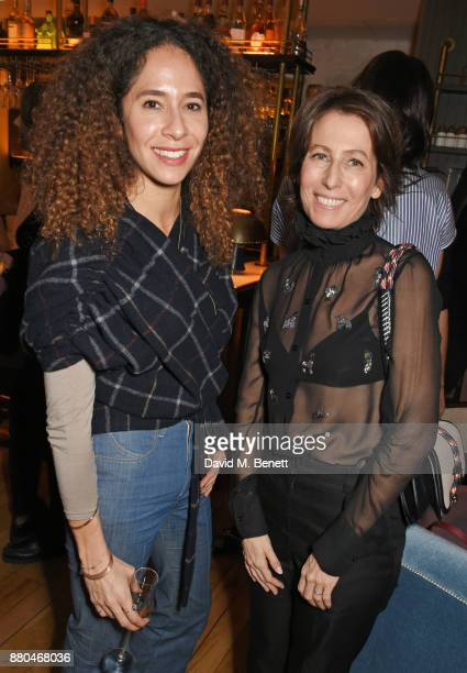 Candice Fragis and Sophie De Rougemont Carven CEO attend the Carven dinner hosted by new creative director Serge Ruffieux at Clarette on November 27...