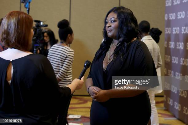 Candice Glover attends the GRITS press junket during SCAD aTVfest at the SCADshow on February 7 2019 in Atlanta Georgia