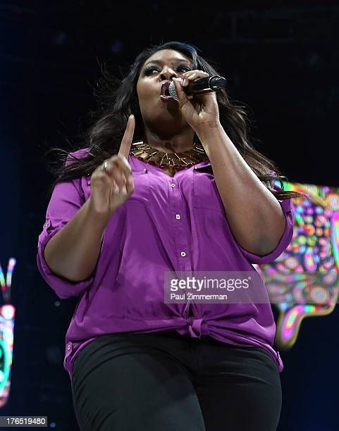 Candice Glover performs during American Idol Live 2013 at Prudential Center on August 14 2013 in Newark New Jersey