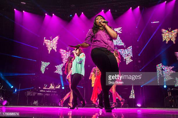 Candice Glover performs during American Idol Live 2013 at UNO Lakefront Arena on July 30 2013 in New Orleans Louisiana