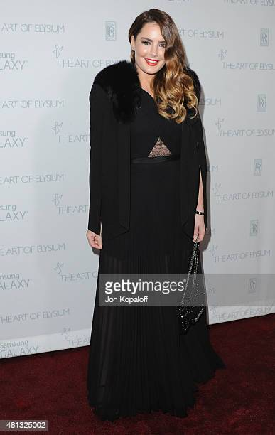 Candice Huffine arrives at The Art Of Elysium 8th Annual Heaven Gala at Hangar 8 on January 10 2015 in Santa Monica California