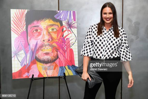 Candice Huffine attends Brad Walsh 'Antiglot' performance and album release party at Pier 59 Studioson October 5 2017 in New York City