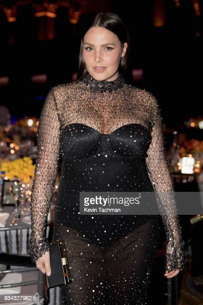 Candice Huffine attends the 19th Annual amfAR New York Gala at Cipriani Wall Street on February 8 2017 in New York City