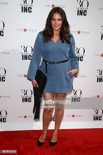 Candice Huffine attends the celebration for 30 Years of INC Collection at IAC Building on September 10 2015 in New York City